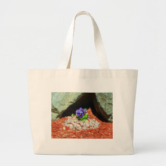Pansy Flowers in Purple Canvas Bags