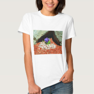 Pansy Flowers in Purple T Shirt