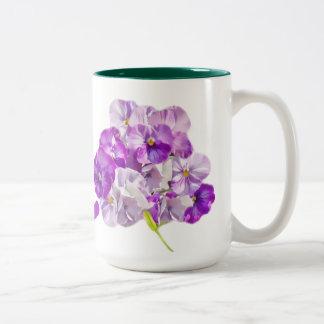 Pansy Flowers Mug Customize