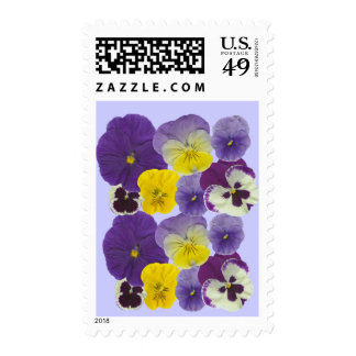 pansy flowers stamps