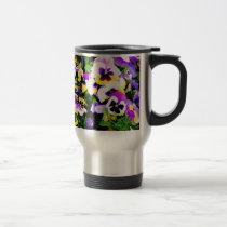 pansy flowers travel mug