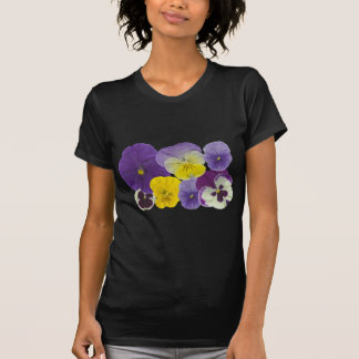 pansy flowers t shirts