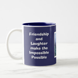 Pansy: Friendship and Laughter make the Imp... Two-Tone Coffee Mug