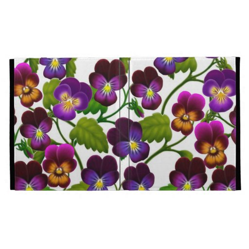 Pansy Garden Floral iPad Caseable Case iPad Folio Cover