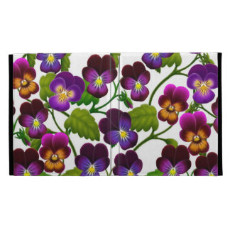 Pansy Garden Floral iPad Caseable Case iPad Folio Covers