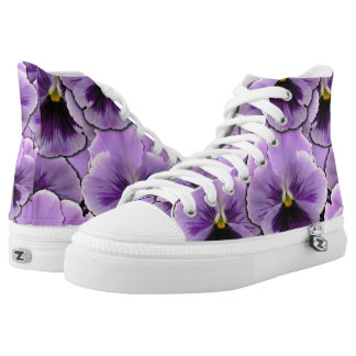 Pansy Garden High-Top Sneakers