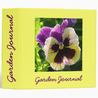 "Pansy Garden Journal - Avery 2"" Binder"