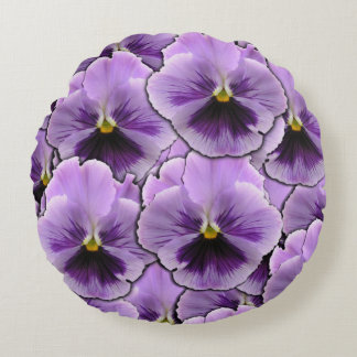 Pansy Garden Round Pillow