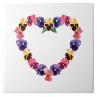 Pansy Heart Tiles