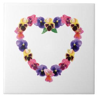 Pansy Heart Tile
