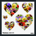"""Pansy Hearts ~ Wall Decal<br><div class=""""desc"""">If you enjoy the colorful beauty of pansies you will love this bright Wall Decals,  which show off many lovely pansies to perfection ~ enjoy!</div>"""