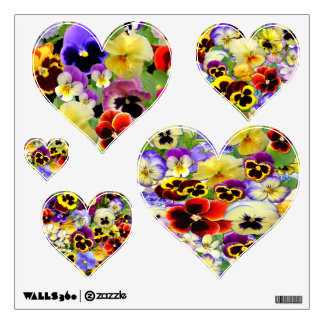 Pansy Hearts ~ Wall Decal
