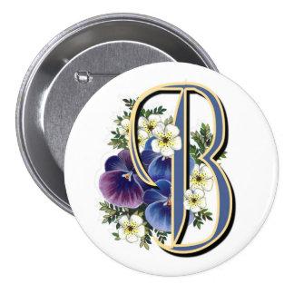 Pansy Initial  - B Pin