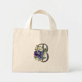 Pansy Initial - C Mini Tote Bag