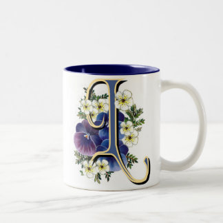 Pansy Initial - L Coffee Mugs