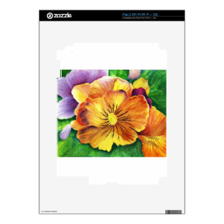 Pansy jpg skin for the iPad 2
