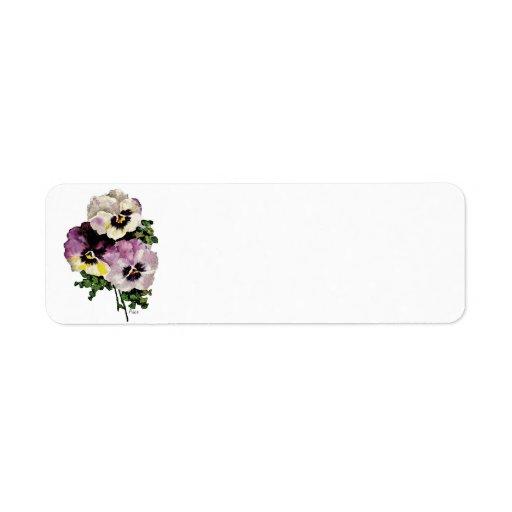 Pansy Custom Return Address Label