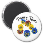 Pansy Lions 1 Magnets