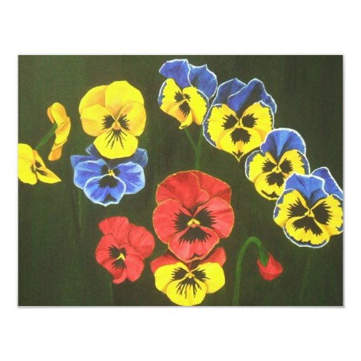 pansy lions dk 4.25x5.5 paper invitation card