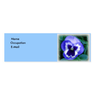 Pansy Lover's Profile Card Business Cards