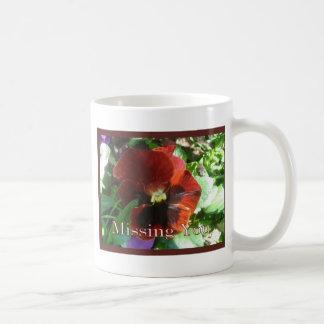 Pansy Missing You Classic White Coffee Mug