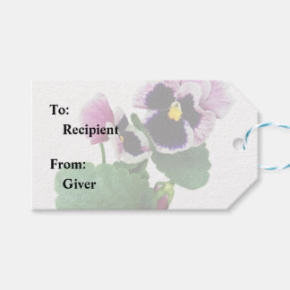 Pansy Mother and Child Gift Tags