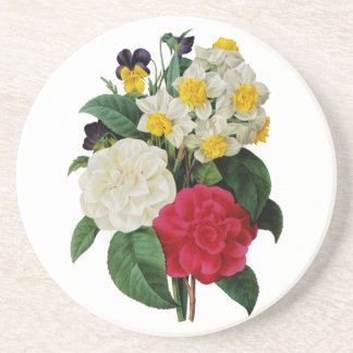 Pansy, Narcissus and Camellia Bouquet By Redoute Coaster