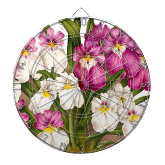 Pansy Orchid Flowers Dartboard