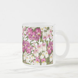 Pansy Orchid Flowers Floral Tropical Mug
