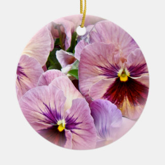 Pansy Ornament - Pink Purple - All Occcasions