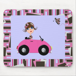 Pansy Out for a Spin Mouse Pad