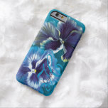 Pansy painting floral aqua name iphone 6 case