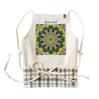 Pansy, Pansies Nature, Flower-Mandala 002.(P) Zazzle HEART Apron