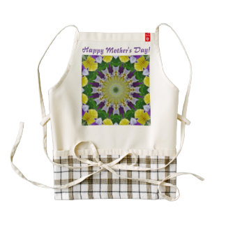 Pansy, Pansies Nature, Flower-Mandala 002.T Zazzle HEART Apron