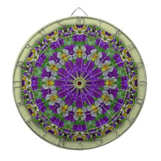 Pansy, Pansies Nature, Flower-Mandala Dartboard With Darts