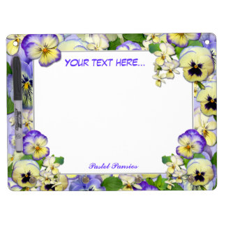 Pansy Paradise ~ Dry-Erase Board with Mirror