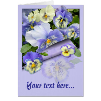 PANSY PASTEL ~  Card