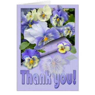 """PANSY PASTEL ~ Thank you!"""" ~ Card"""