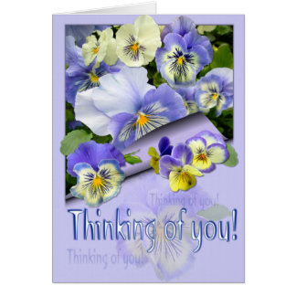 PANSY PASTEL ~ Thinking of you! Card