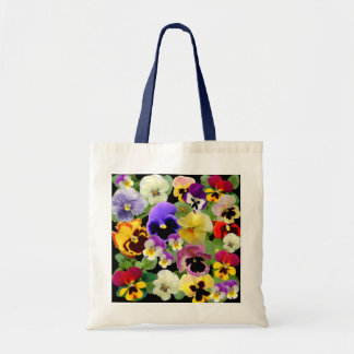 PANSY PATCHWORK  ~ Budget Tote Bags