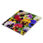 "Pansy Patchwork ~ Ceramic Tile<br><div class=""desc"">Colorful pansies to bring happiness and summer beauty to your home!</div>"