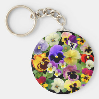 PANSY PATCHWORK ~ Keychain