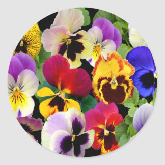 PANSY PATCHWORK Stickers