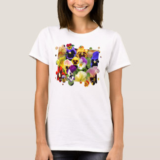 PANSY PATCHWORK T-SHIRT