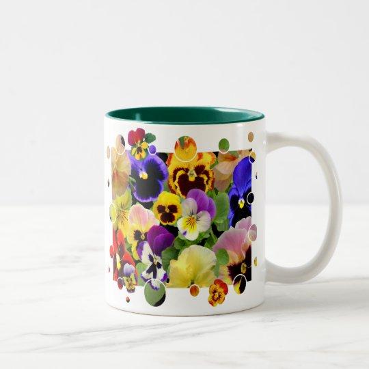 PANSY PATCHWORK ~ Two Tone  Mug