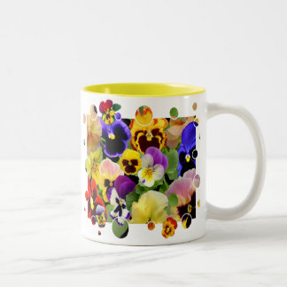 PANSY PATCHWORK ~ Two Tone  Mug