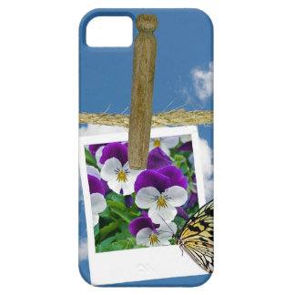 Pansy photo with butterfly iPhone SE/5/5s case