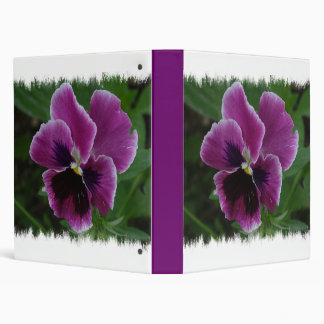 Pansy Pictures Binder