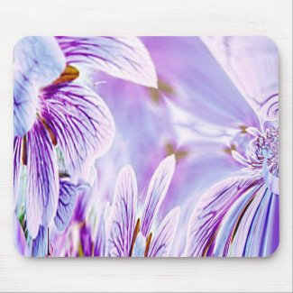 Pansy Print Mouse Pad