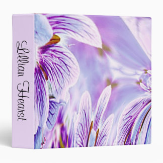 Pansy Print Personalized Binders